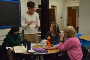 Torrey Palmer works with teachers as part of the Core Task Project. (Photo: Emily Hanford)