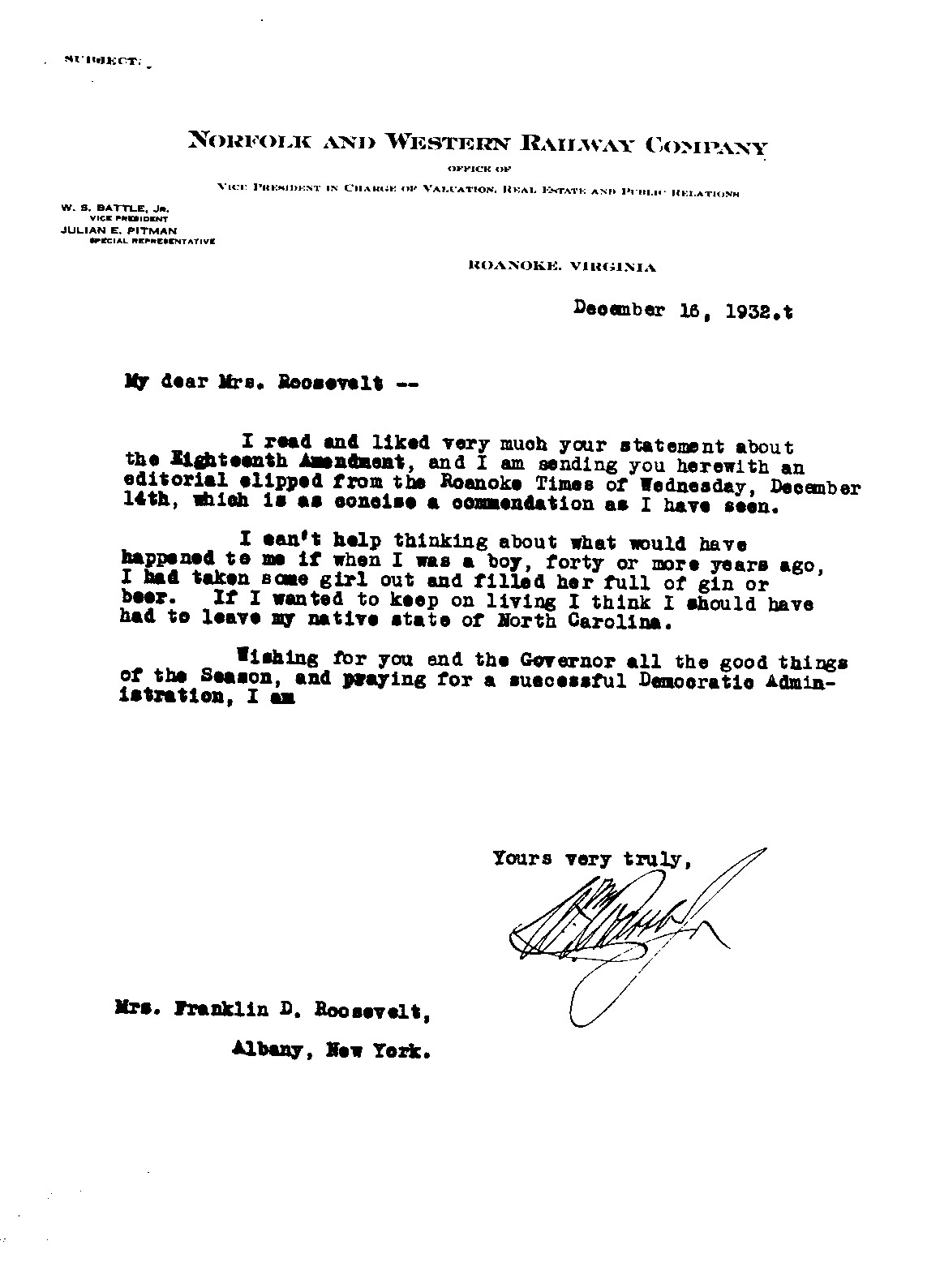 Letters To And From Eleanor Roosevelt  American Radioworks