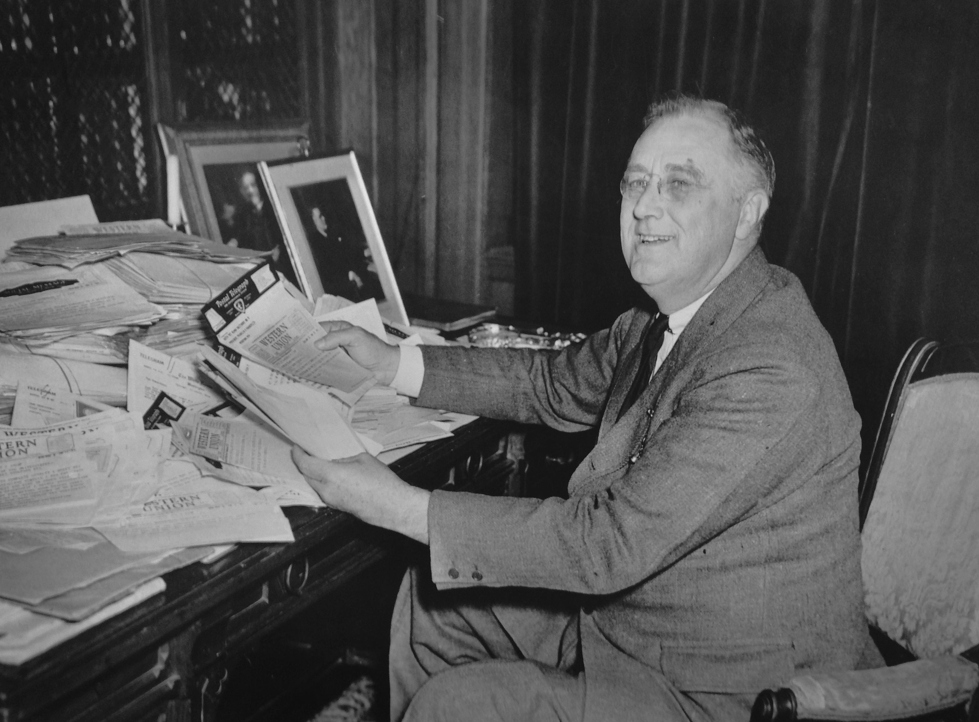 President Franklin D. Roosevelt received an average of 8,000 letters, cards and telegrams daily. (Photo: Franklin D. Roosevelt Presidential Library)