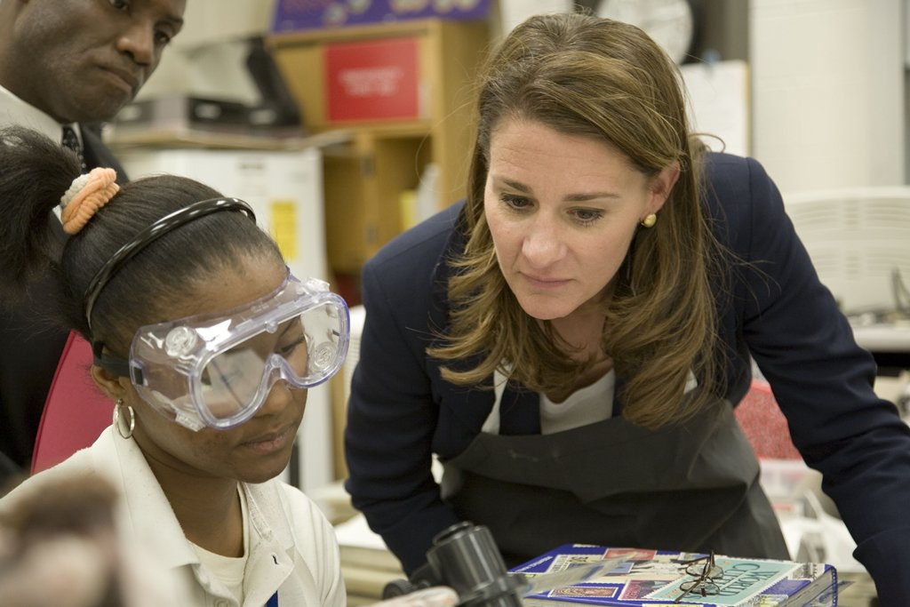 Melinda Gates visits a school supported by the Gates Foundation. (Photo: Gates Foundation via Flickr)