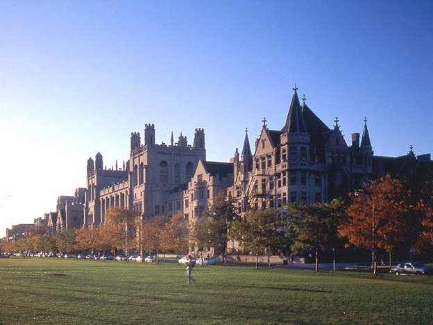 The campus of the University of Chicago. Kevin Carey says most students of the future won't be going to traditional college campuses. Pho
